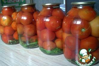 Рецепт: Консервированные огурцы и помидоры без стерилизации