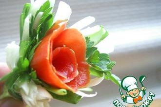 """Рецепт: """"Розы"""" для сервировки или закуски"""