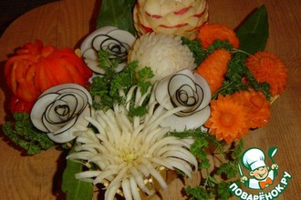 Рецепт: Хризантема из пекинской капусты