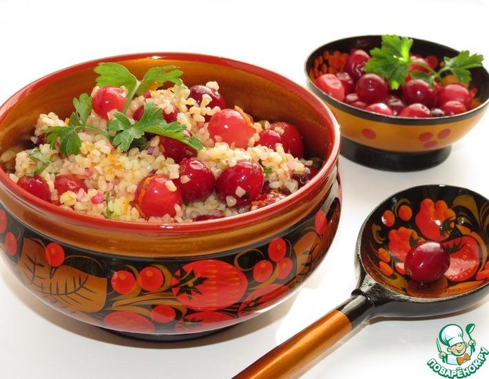 Рецепт: Салат из булгура с клюквой