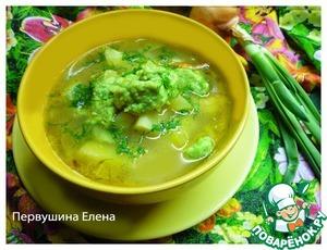 Рецепт Суп с зелеными клецками
