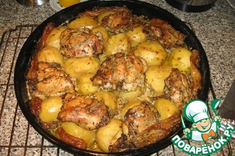 Рецепт: Курица с картофелем Барьерный риф