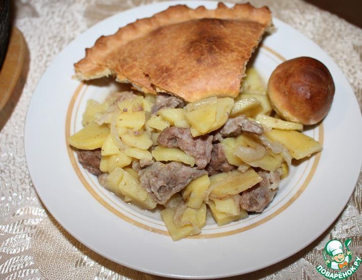 Рецепт: Татарский пирог с мясом и картофелем Балеш