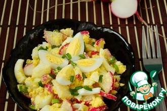 Рецепт: Салат из редиса без майонеза