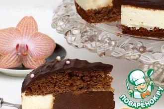 Рецепт: Шоколадно-сливочный торт