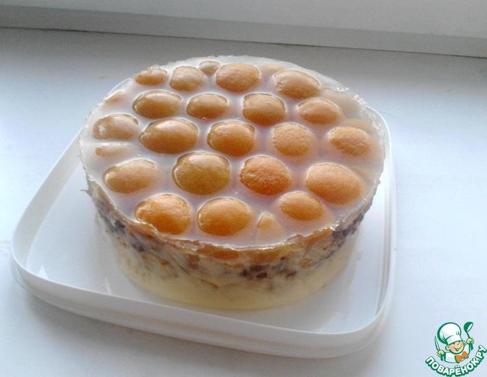 Рецепт: Торт без выпечки Абрикос