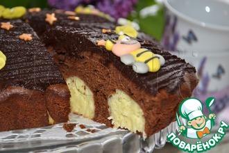 Рецепт: Шоколадно-творожный мягкий пирог