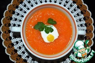 Рецепт: Морковный суп-пюре с имбирём и лимоном