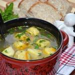 Овощной суп с сырными шариками ...