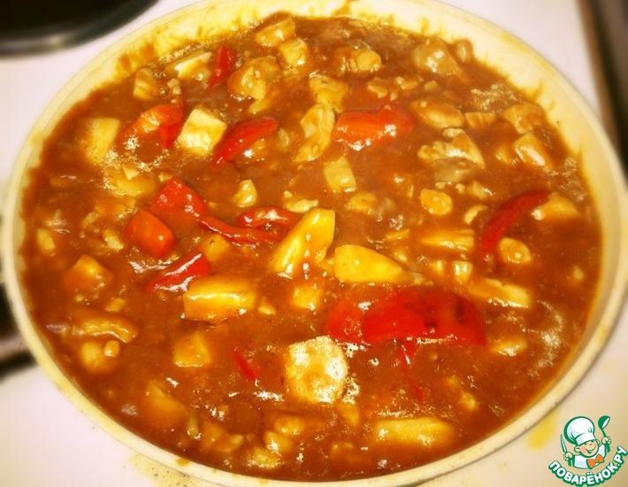 Рецепт: Рыба в кисло-сладком соусе