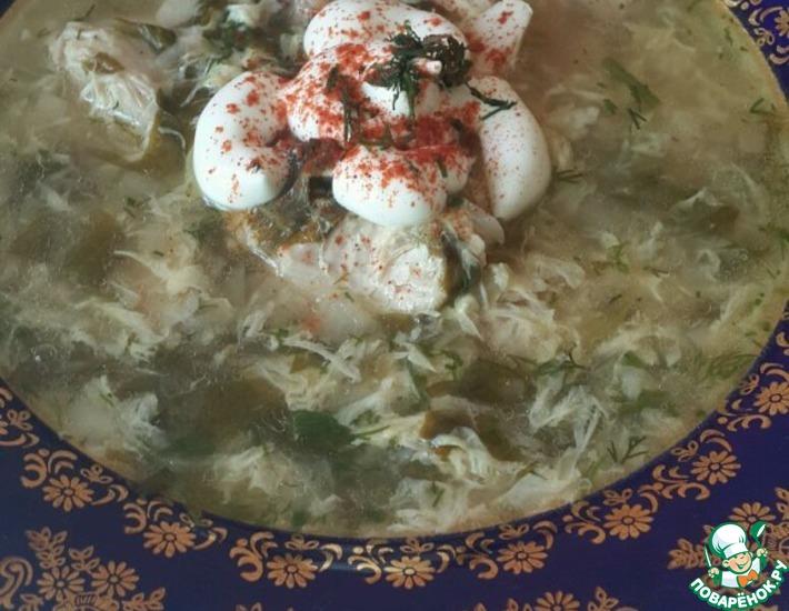 Рецепт: Куриный суп с щавелем