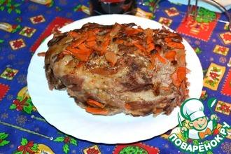 Рецепт: Мясо, запеченное в тесте