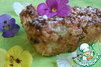Рецепт: Кокосово-ревеневый пирог