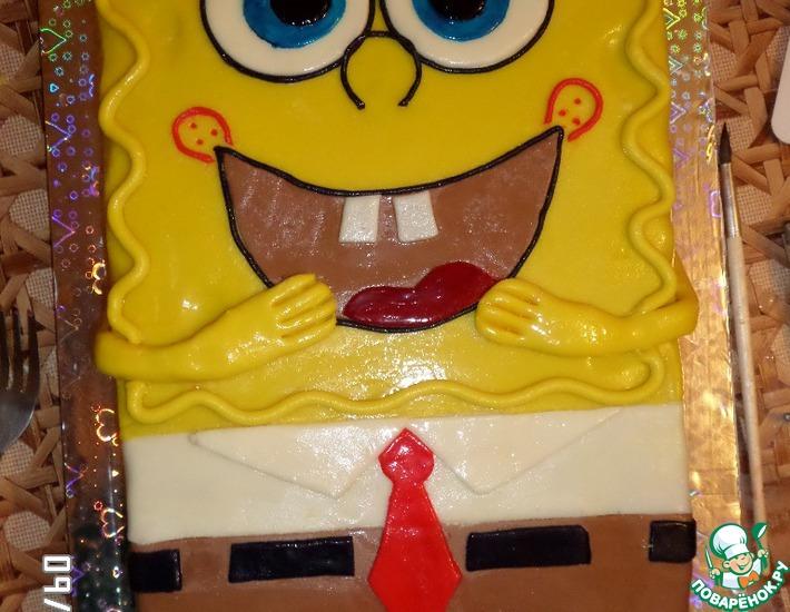 Рецепт: Торт Губка Спанч Боб2