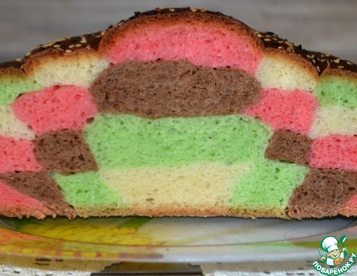 Рецепт: Хлеб Мозаика