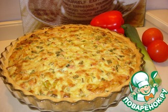 Рецепт: Открытый пирог Брокколи в облаках