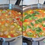Диетический суп-гуляш с овощами и с индейкой