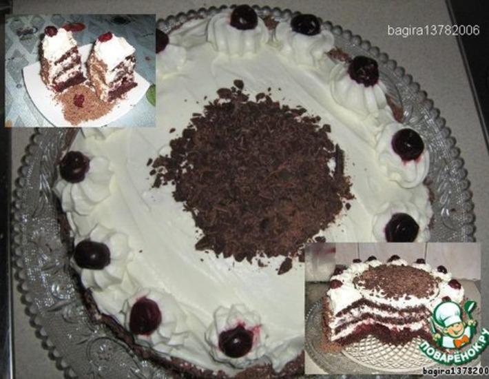Рецепт: Торт Черный лес или Шварцвальдский торт