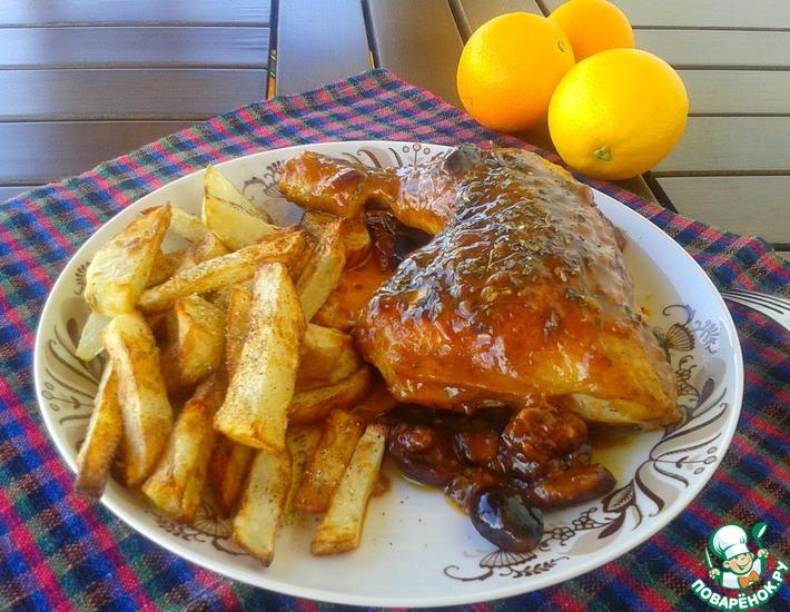 Рецепт: Курица по-каламатски