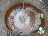 Шоколадно-творожный мраморный пирог ингредиенты