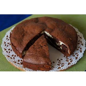 Шоколадно-творожный мраморный пирог