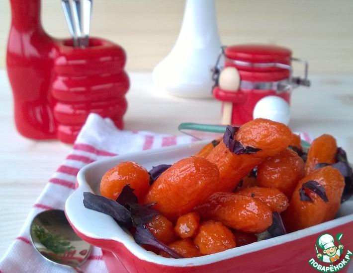 Рецепт: Глазированная мини морковь