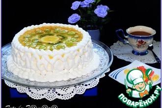 Рецепт: Торт творожный с фруктами