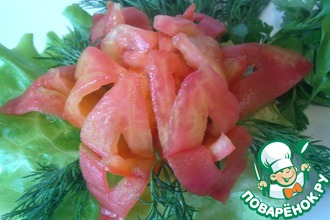 Рецепт: Закуска из помидора Цветок