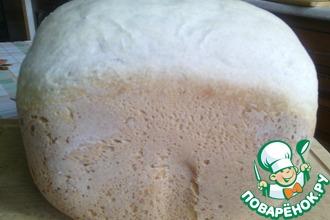 Рецепт: Хлеб белый простой на закваске в хлебопечке