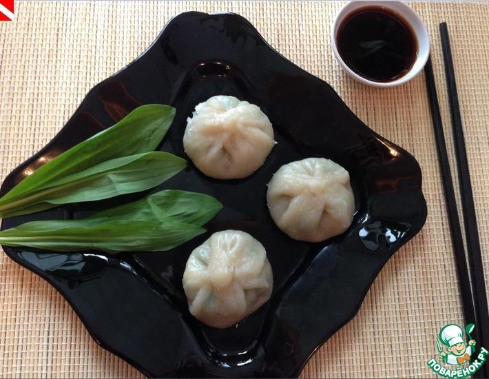 Рецепт: Цяоцзы-китайские пельмени с черемшой