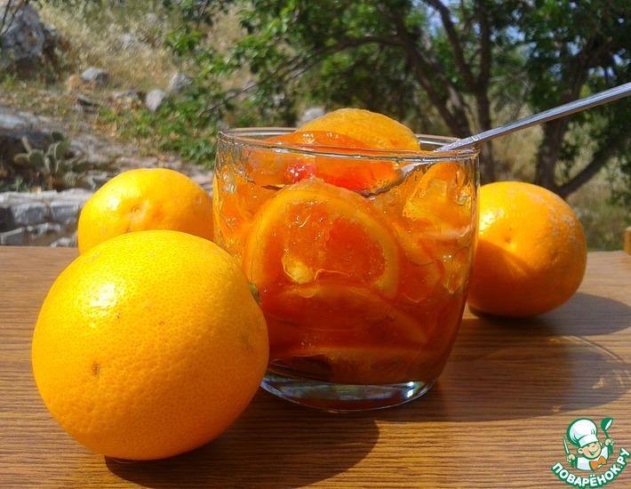 Рецепт: Варенье из трех цитрусовых