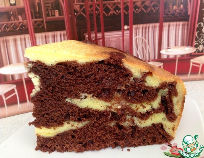 Рецепт: Шоколадно-творожный пирог  Чудо