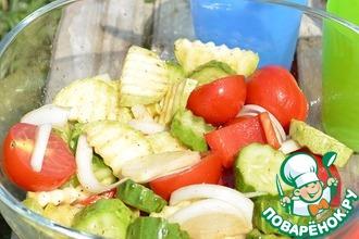 Рецепт: Быстрый маринованный салат для пикника
