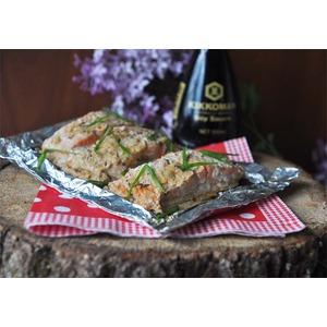 Запечённая рыба в сметанно-соевом маринаде