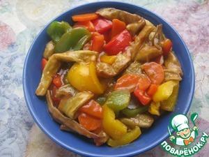 Рецепт Баклажаны в кисло-сладком соусе с овощами