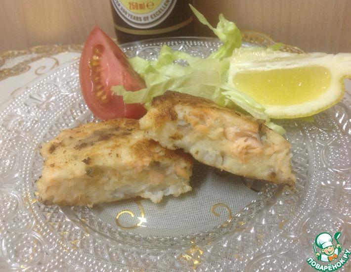 Рецепт: Котлеты рубленные из лосося и палтуса