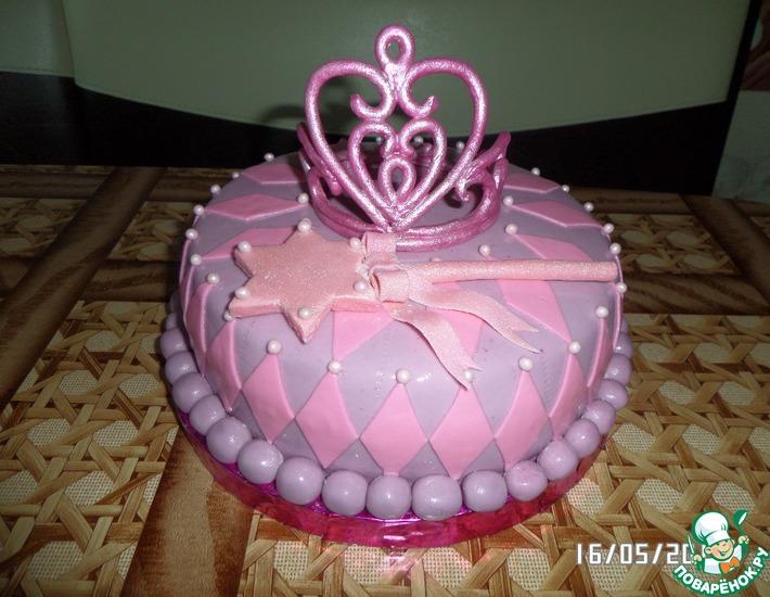 Рецепт: Торт Корона для принцессы