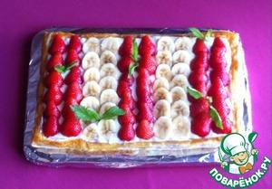 Тортик с фруктами на французский манер