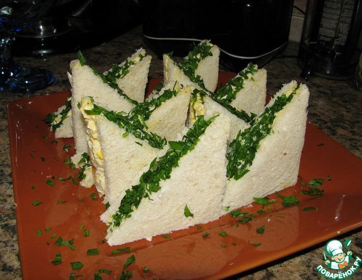 Рецепт: Закусочные бутерброды с яичным салатом