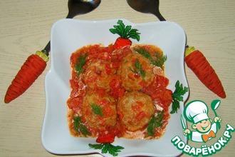 Рецепт: Тефтели с сыром в томатном соусе