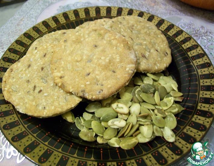 Рецепт: Ржано-цельнозерновые хлебцы
