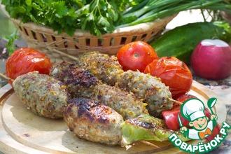 Рецепт: Люля-кебаб в панировке для пикника