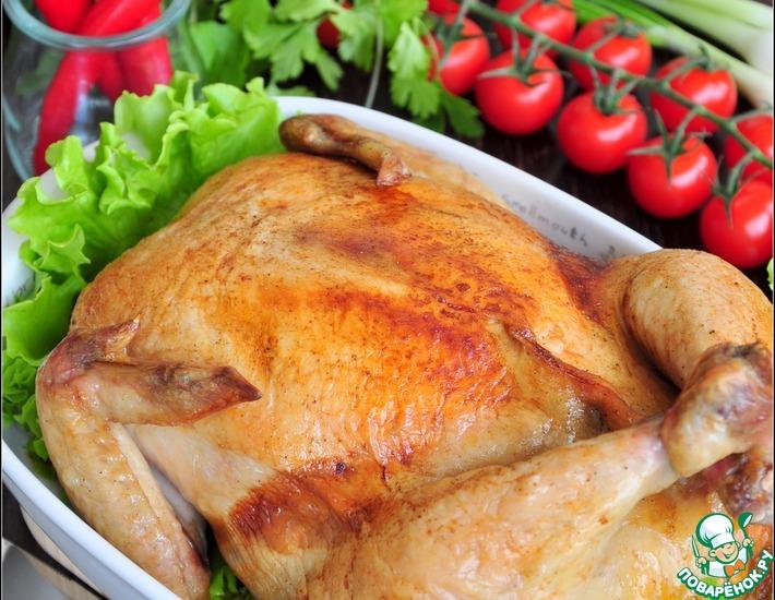 Рецепт: Фаршированная курица без костей