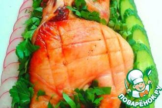 Рецепт: Цыпленок тапака на мангале