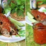 Кебабы из говядины с соево-томатным соусом