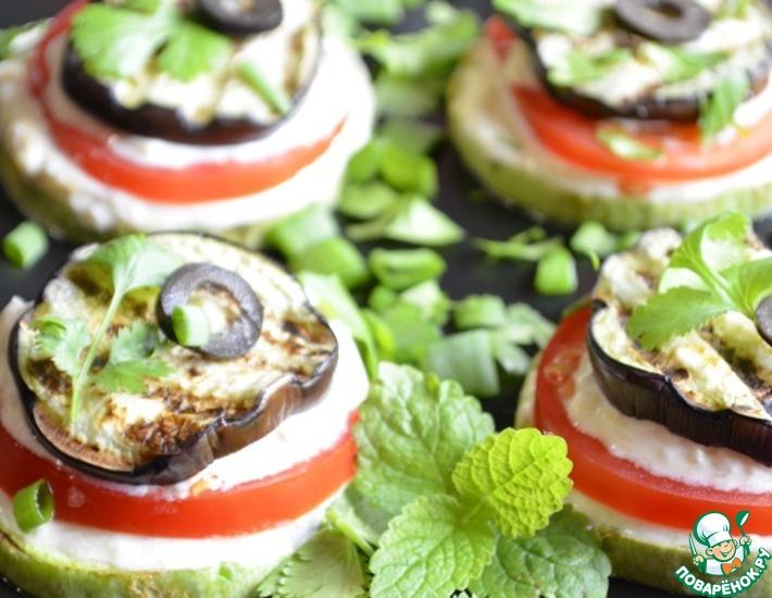 Рецепт: Закуска из овощей гриль