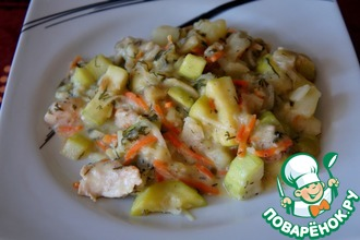 Рецепт: Овощное рагу с кроликом