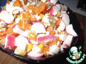 Рецепт Салат с крабовыми палочками и оливками