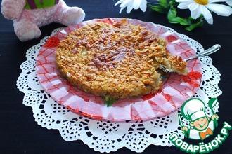 Рецепт: Яблочный пирог с хрустящей корочкой
