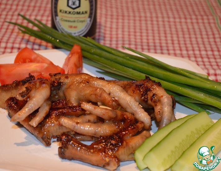 Рецепт: Куриные лапки в пряном соусе
